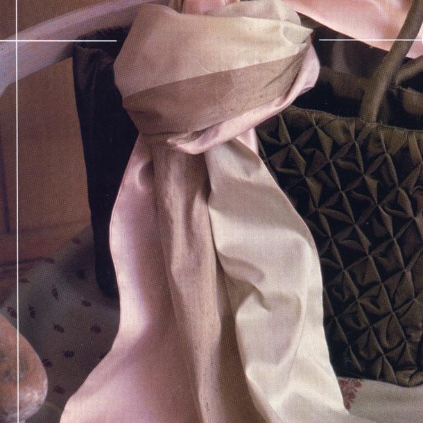 Шелковый шарф с кистями