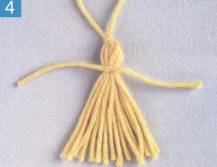 кисточки из ниток как сделать